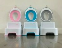 Dual Height Step Stool for Kids Toddler's for Potty Training bathroom with ring