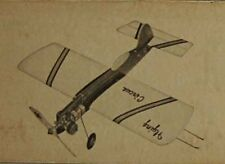 """Model Airplane Plans (UC): Megow FLYING CIRCUS 28"""" .23-.36 (PDQ Flying Clown)"""