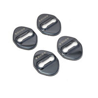 Black Steel  Door Buckle Protection Cover Trim 4pcs For Toyota Camry 2018-2021