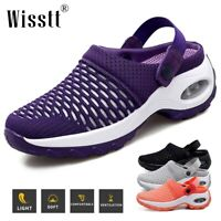 Women's Breathable Mesh Cushioned Sole Sneakers Casual Sandals Gym Running Shoes