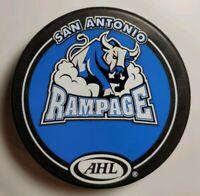 SAN ANTONIO RAMPAGE AMERICAN HOCKEY LEAGUE AHL OFFICIAL GAME PUCK VINTAGE RARE