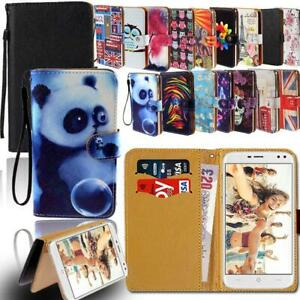Leather Smart Stand Wallet Cover Case For Various Doogee X Series Phones