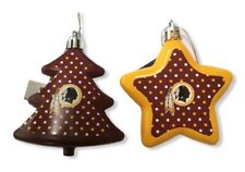 Washington Redskins NFL American Football Christmas Tree Star Decorations 2 Set