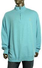 New Polo Ralph Lauren Big Men's Mock Neck Half Zip Blue Pullover Sweatshirt 3XB
