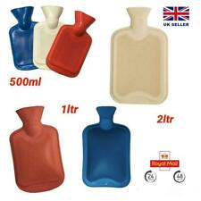 2 Litre 1 Litre 500ml Hot Water Bottle Natural Rubber Winter Warmer Small Large