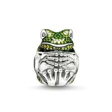 FROG Silver Plated Crystal Beads Charms Fits-Original-Pandora Bracelet 2017
