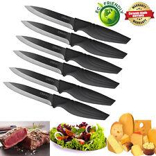 Steak Knives Set of 6 Japanese Quality Extremely Sharp Ceramic Knife Picnic BBQ