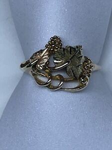 Vintage 10k & 12k JCO Landstrom Black Hills Gold Fashion Statement Ring Size 9.5
