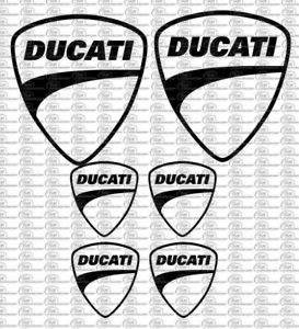 Ducati Logo Motorrad Auto Aufkleber Set 6 Teilig Sponsoren Decals Farbauswahl