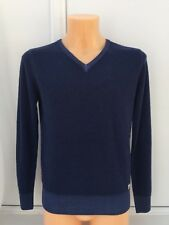 C.P. COMPANY Fleece Wool V-Neck Sweater in Navy Size M XL 2XL 3XL BNWT