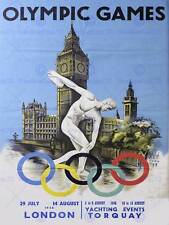 SPORT CULTURAL EXHIBITION LONDON OLYMPIC GAMES 1948 UK VINTAGE AD POSTER 2074PY