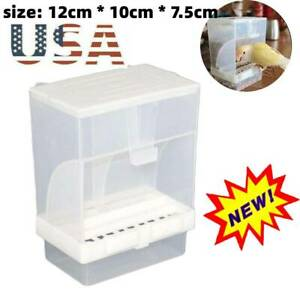 Bird Cage Auto Food Seed Feeders Automatic European No More Mess US
