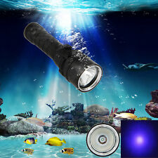 Underwater 100m XPE UV LED Scuba Diving Flashlight Torch Light 10W 395-495nm