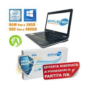 """DELL LATITUDE E7240 I7 4600U 12,5"""" HDMI SSD M.SATA BATTERIA NUOVA PER P.IVA."""
