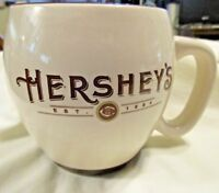 Hersheys Mug Cup Off White Brown Trim Large 15 oz  Chocolate