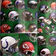 Vintage NFL Footballs Helmet Hallmark Gift Wrap Paper 2 Sheet 1997 USA Made