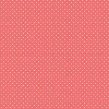 Baumwollstoff Pünktchen coral METERWARE Webware Popeline Stoff Dots