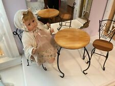 Wooden Bistro Table and 2 Chairs Set for American Girl dolls