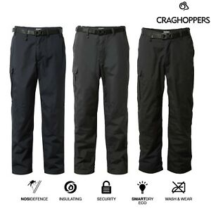 Craghoppers Mens Kiwi Winter Trousers Thermo Fleece Lined Walking Warm with Belt