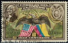 Ecuador American Eagle and Flags stamp 1938