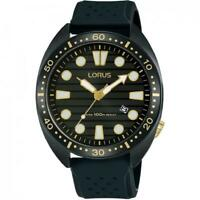 Lorus Black Silicone Strap Mens Watch RH927LX9