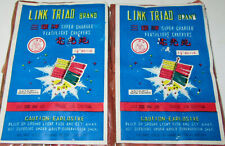PAIR OF (PAPER LABELS ONLY) for RARE VINTAGE FLASHLIGHT TRIAD BRAND FIRECRACKER