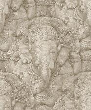 Rasch Tapete Crispy Paper 525519 Skulptur Tempel Relief  Vliestapete Vlies