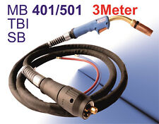 Schweißbrenner MB 501 Brenner 550A Wassergekühlt Schlauchpaket 3m MIG MAG