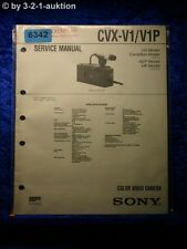 Sony Service Manual CVX V1 /V1P Color Video Camera (#6342)