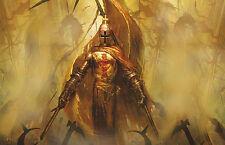 GRANDE stampa incorniciata-Cavalieri Templari SPADA litigare con il nemico (PICTURE ART)