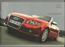AUDI A4 AND S4 CABRIOLET ILLUSTRATED PRICE/SPECIFICATION SALE BROCHURE MAY 2007