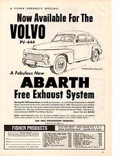 1960 VOLVO PV-444 / ABARTH  ~  NICE ORIGINAL PRINT AD