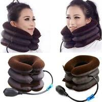 Inflatable Air-Neck Shoulder Pain Cervical Traction Brace Device Relief Com P8U5