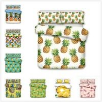 3D Pineapple Colorful Bedding Sets Duvet Cover Pillowcase Comforter/Quilt Cover