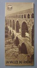 Ancien dépliant touristique  Guide Vallée du Rhône PLM  Avignon Aix-en-Provence