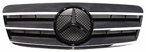 Front Grille for W208 97-02 Mercedes-Benz CL Style Chrome & Black CLK320 CLK430