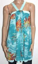 MISS ME Designer Blue Multi Print Chiffon Day Dress Size S BNWT [sw81]