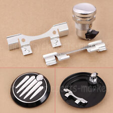 Chrome Push Button Fuel Door Latch Hinge Kit Fit For Harley Touring FLH 1992-19