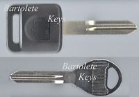 Transponder Key Blank Fits 2000 2001 2002 00 01 02 Infiniti G20 *