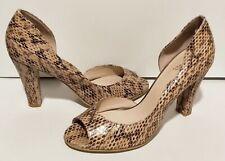 WITTNER Peep Toe Heels -  Size 40 (au9) - ANIMAL SNAKE PRINT LEATHER