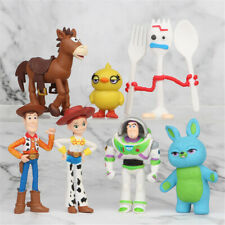 Toy Story Woody Buzz Lightyear 7PCS Action Figure Doll Gift Kids Toy Cake Topper