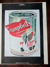 Andy Warhol Big Torn Campbell's Soup Can (Vegetable Beef) 1962