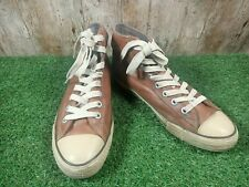 Converse All Star Hi Top Brown leather men's trainer size 9.5 UK 43 EUR