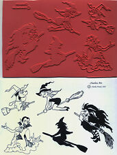 unmounted Halloween rubber stamps  Charlie's Witches   5 images