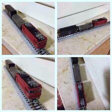 Modellismo: treno merci scala N analogico con loco e motore Bandai e vagoni Kato