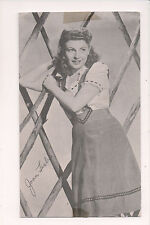 Vintage Card Faux Signature  Joan Leslie Movie & TV Actress