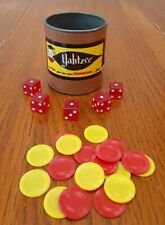 Yahtzee 1956 Brown Dice Cup and Die Replacement Only 1950's Era Vintage