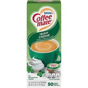 Coffee Mate Liquid Irish Creme Single Serve Creamer, 50pcs x 11ml