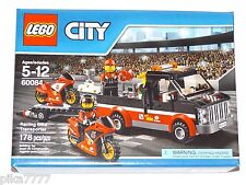 LEGO City RACING BIKE TRANSPORTER 60084 motorcycle black red pickup truck race