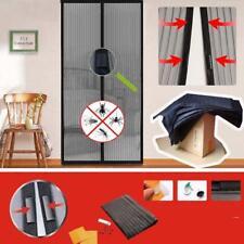 Home Magic Mesh Hands Free Screen Net Magnetic Anti Mosquito Bug Door Curtain GA